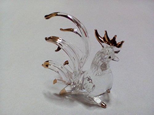 Fruit Bowl Panel (Miniature Hand Blown Art Glass Figurine - Rooster ( Ayutthaya shop ))
