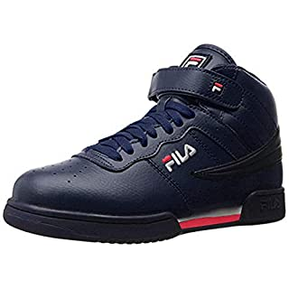 Fila Men's f-13v lea/syn Fashion Sneaker, Navy/White Red, 12 M US