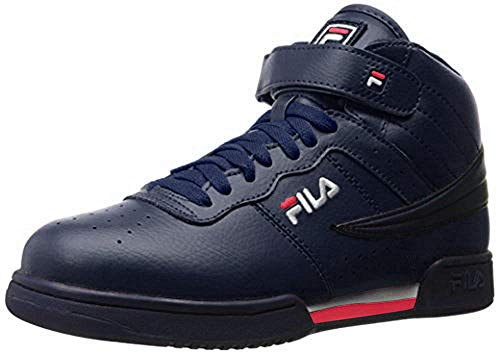 Fila Men's f-13v lea/syn Fashion Sneaker, Navy/White Red, 12 M US (Sneaker Fashion)