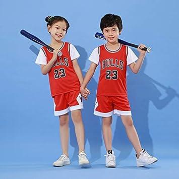 BASPORT Chicago Bulls Jorden # 23Jersey per Bambini Jersey,T-Shirt,Maglia Giocatore di Basket.Tuta Sportiva,Ragazzo, ragazzaJersey