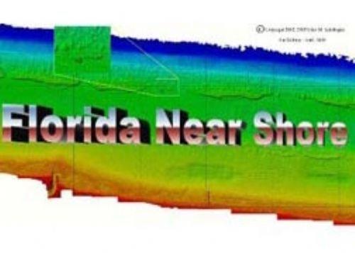 Florida Near Shore Charts Palm Beach Broward Miami-Dade County Side Scan Sonar Scuba Diving Fishing Depth Reef Shipwreck Wreck Inlet Pier Locations Map High Resolution Image Chart