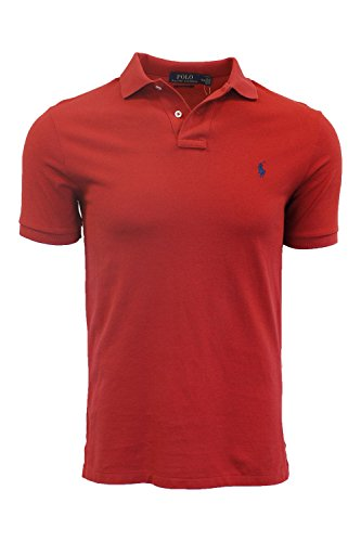 Polo Ralph Lauren Men Classic Fit Mesh Polo Shirt, Red, M
