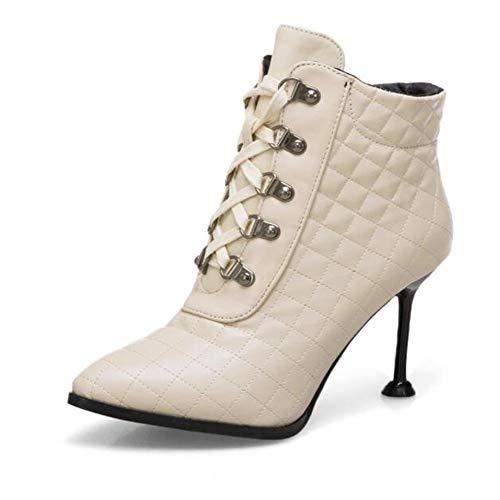 High Hochzeits Super Stiefel CITW Damenstiefel Stiefelmode Martin Heel Großformat Tube Sexy Low und Spitz Stiefel Winter Herbst 7HTYg7