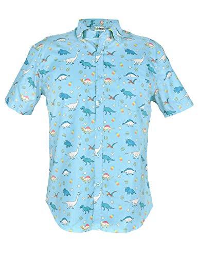 Saurheads Dinosaur Hawaiian Shirt (Small, Blue) ()