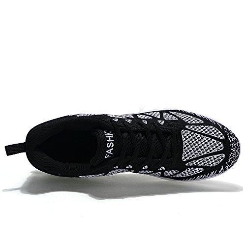 Bujingyun Bjyun Nieuwe Heren Sportschoenen Heren Casual Sneakers Kussen Schoenen Heren Trend Loopschoenen Zwart En Wit