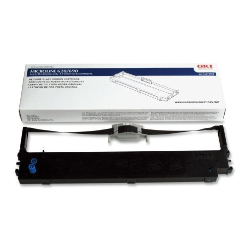 Wholesale CASE of 10 - Oki Data 44173403 Printer Ribbon-Ribbon, Nylon, ML620/690 Up To 8M, Black