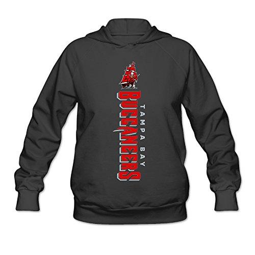 RABBEAT Women's Sweatshirt Tampa Bay Football Logo Size M Black