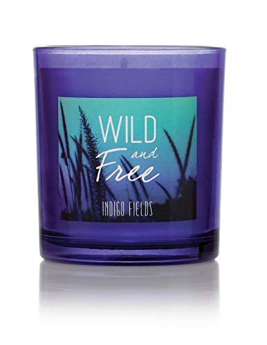 (Wild & Free Indigo Fields Candle - Natural Soy Wax - Scented with a Long-Lasting Blend of Fruity and Floral Aromas for Relaxation - Lead-Free Cotton Candle Wick)