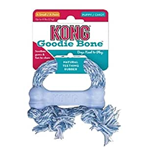 Amazon.com: Kong Puppy Goodie Bone Treat Toy with Rope (X ...