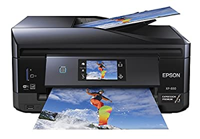 Epson XP-830 Wireless Color Photo Printer with Scanner, Copier & Fax (C11CE78201) from Epson