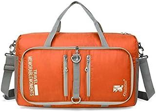 ADream Durevole Outdoor Grande capacità Borsa da Palestra Sport Borsone da Viaggio Weekender Borsone da Uomo (Arancione)