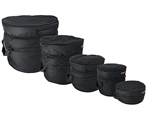 "Gearlux 5-Piece Drum Bag Set for 12"" Tom, 13"" Tom, 14"" Snare, 16"" Floor Tom, 22"" Bass Drum"