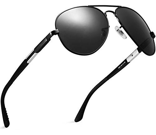 ATTCL® 2016 Klassik Polarisierte Fahren Aviator Sonnenbrille Herren 16695black