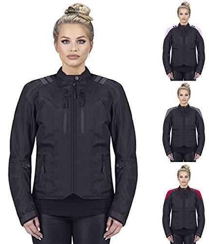 Viking Cycle Ironborn Women's Motorcycle Textile Jacket (Medium, Black)
