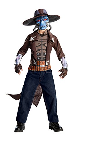 [Star Wars Deluxe Cad Bane Costume, Black, Standard] (Mens Alien Costume)