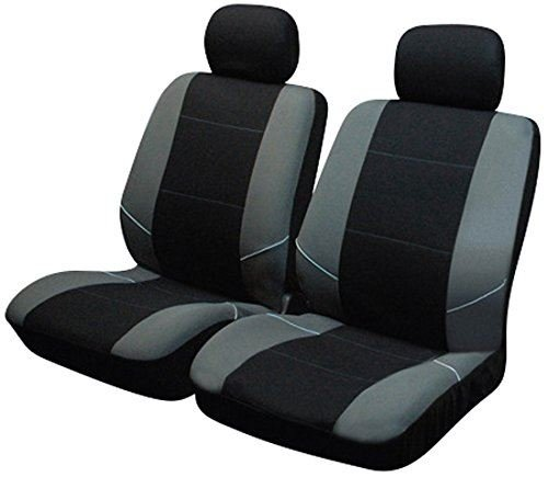 UKB4C Black/Grey Front Pair of Car Seat Covers for C-Max All Years