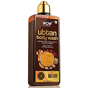 WOW Skin Science Ubtan Body Wash with Chickpea Flour, Almond Extract, Saffron & Turmeric Extracts – No Sulphate…