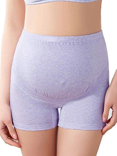 Intimate Portal Women Anti Chafing Maternity Pregnancy Boyshort Brief 2-Pk Pink Purple L by Intimate Portal (Image #7)