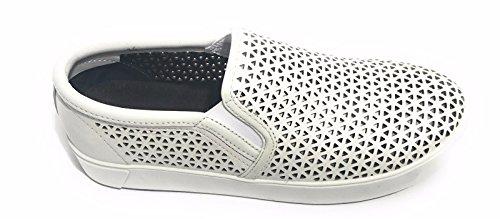 NERO slip on donna DREW scarpe APEPAZZA Bianco MICROHOLES DLW06 SETqx0tgn