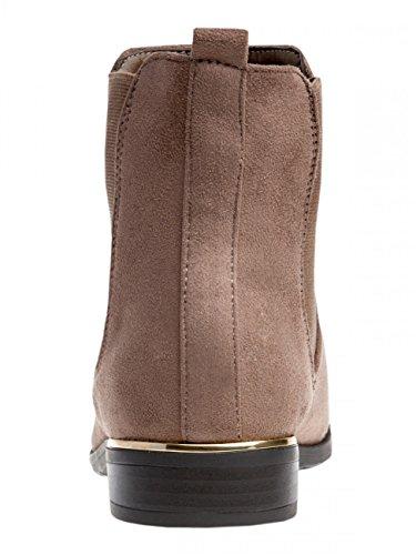 Vintage Boots Women Chelsea SBO054 CASPAR Brown qxvO1gEn