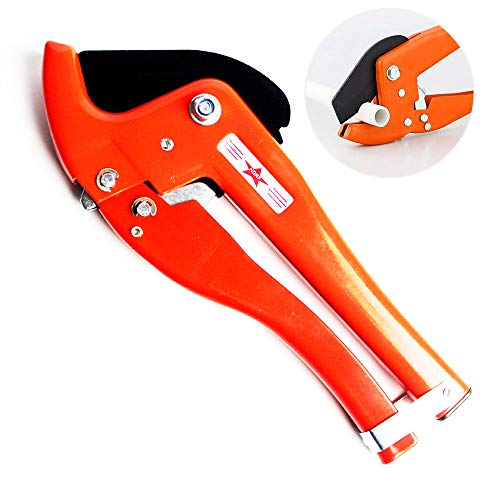 Professional PVC Pipe Cutters, Adjustable 50mm PVC Pipe And Tube Cutter Tool Heavy Duty PPR Aluminum Plastic Pipe Scissors Fast Pipe Cutting Tool Ratcheting Hose ()