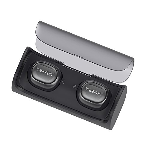 True Wireless Earbuds, Wavefun X-Pods Mini Earphone TWS Stereo Bluetooth 4.1 Headphones Cordless Earphones Sweatproof In-Ear Headset with Mic