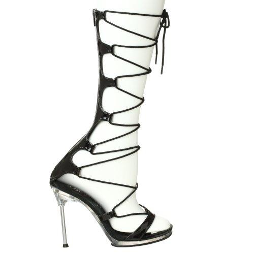Women's Sandal black 60 Dress Fabulicious clear Chic FSqdwP