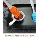 FDIO 5 Pcs Silicone Pastry/Basting/Oil Brush,Kitchen Gadgets for BBQ,Meat,Grilling,Cakes,(Multicolor) 15 MATERIAL: The oil brush head is made of food-grade silicone, which can withstand high temperature. The handle is environment-friendly PP which is non-toxic and durable FIVE COLOR TO CREATE FOOD: Including multiple colour 5 silicone brushes in one set, vibrant colors, avoid flavor crossing by using one color for different seasoning LIGHTWEIGHT DESIGN: The lightweight handle provides a soft comfortable firm grip making basting easy, quick and effortless coating action, can be used in many applications