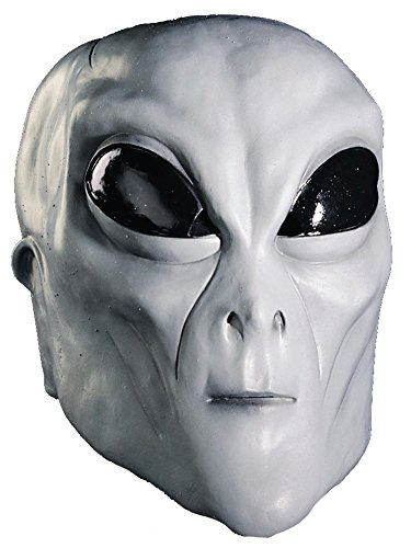 Scary-Masks Alien Grey Mask Halloween Costume - Most Adults -