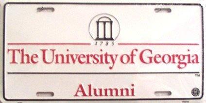 University of Georgia Bulldogs Alumni Collegiate Embossed Vanity Metal Novelty License Plate Tag Sign (Embossed Car Metal License Plate)