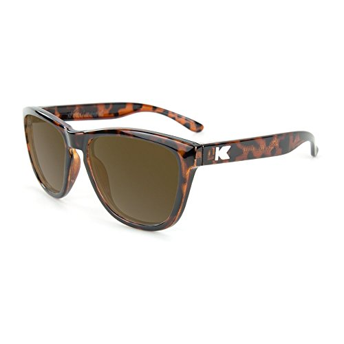 Knockaround Kid's Premiums Sunglasses, Glossy Tortoise Shell/Amber - Tortoise For Kids