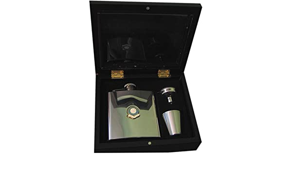 Manchester City The Citizens Football Club 6oz Hip Flask Gift Set