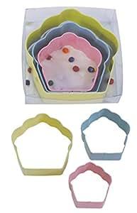 R & M International 1813 3-Piece Cupcake Cookie Cutter Set