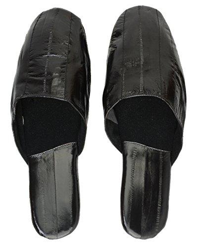 Eel Skin Slippers Black OR9zO59