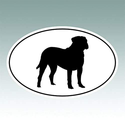 RDW Bullmastiff Euro Oval Sticker Premium Decal Die Cut Dog Canine pet