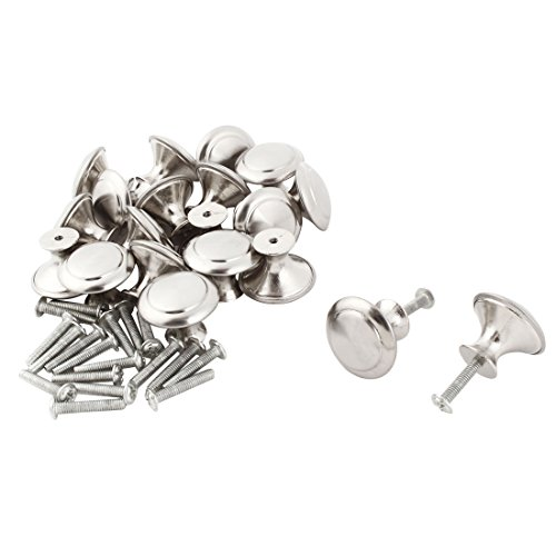 uxcell Metal Household Round Design Furniture Drawer Door Wardrobe Pull Knob 20pcs by uxcell