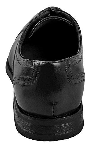 Delli Aldo Mens Wing Tip Dress Shoes   Comfortable Dress Shoes I Formal   Lace-Up   Classic Design   Black 10.5 by Delli Aldo (Image #4)