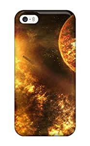 3003531K74934049 Tpu Case Cover For Iphone 5/5s Strong Protect Case - Burning Universe Design