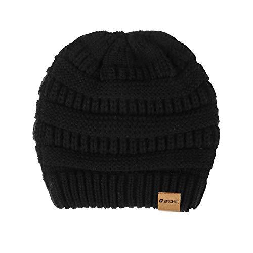 SWISSELITE Knit Slouchy Beanie Hats for Women Winter Warm Soft Cable Knit Cap