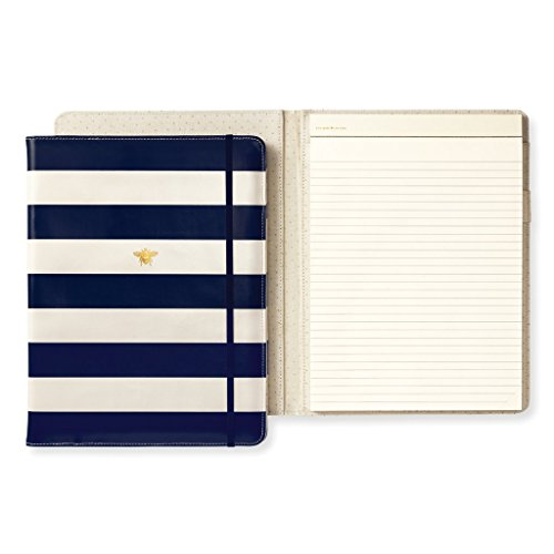 Kate Spade New York Women's Legal Notepad Folio (Navy Stripe)