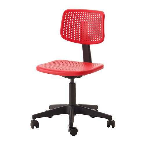 IKEA ALRIK Swivel chair and adjustable, RED by IKEA
