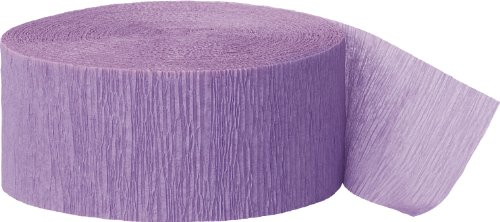 Unique Industries 81ft Lavender Crepe Paper Streamers - 6330