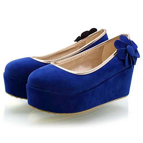COOLCEPT Damen Klassischer Plateauschuhe Pumps Blue