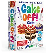 AMIGO Cake Off! Kids Card Game with Wash-Off Markers