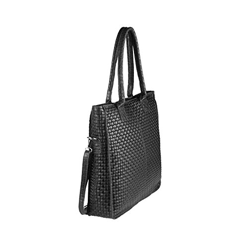 OBC Only-Beautiful-Couture, Borsa a mano donna Rosa Rosa-schlange ca.: 38x36x9 cm (BxHxT) nero