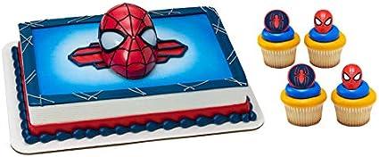Spiderman Silhouette Marvel Spider-Man Custom Cake Topper