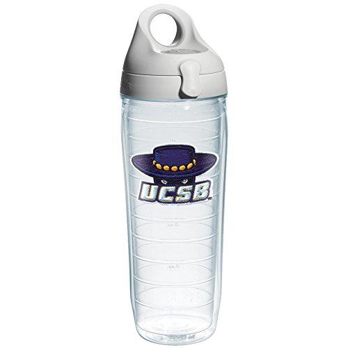 Tervis 1073725 Ca University Santa Barbara Emblem Individual Water Bottle with Gray lid, 24 oz, Clear ()