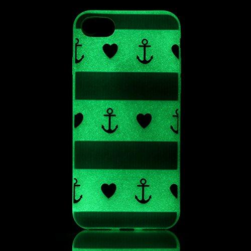 iPhone 7 / 8 Hülle mit Fluoreszenz , Modisch Spezielle Worte Transparent TPU Silikon Schutz Handy Hülle Handytasche HandyHülle Etui Schale Schutzhülle Case Cover für Apple iPhone 7 / 8