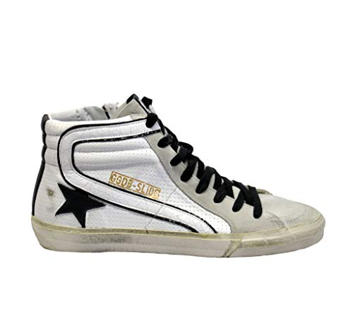 Goose Pelle Bianco G34ws595a10 Hi Top Sneakers Donna Golden RYdwq7CR