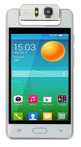 Surya Microkey E9 4 Touch Screen 1.3 GHZ Quad Core 180 degree rotating camera mart Phone-White Colour
